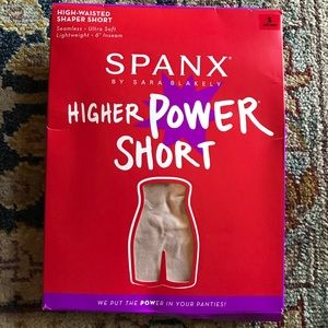 SPANX HIGHER POWER SHORTS SIZE S IN SOFT NUDE